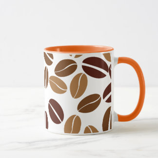 Coffee Bean - Classic White Mug / Orange Interior