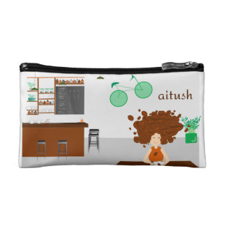 Coffee bean Girl Makeup Bag