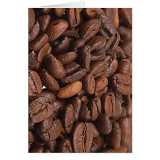 Coffee Bean Greeting and Notecards Card