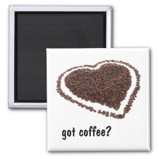 Coffee Bean Heart Magnet