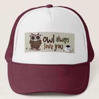Coffee Bean Owl Art Trucker Hat