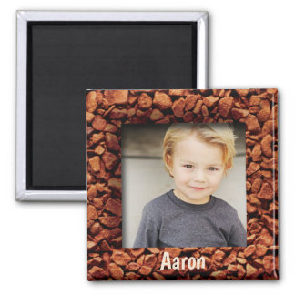 Coffee Bean Photo Personalized Gift Magnet Name