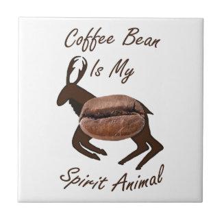 Coffee Bean Spirit Animal Tile