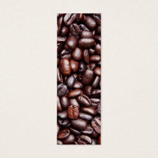 Coffee Bean Template - Customized Dark Roast Beans Mini Business Card