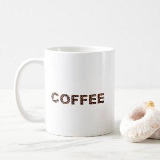 Coffee Bean Text Mug