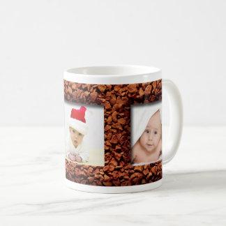 Coffee Bean Three Photo Personalized Mug