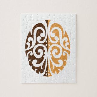 Coffee Bean with Maori Motif Jigsaw Puzzle