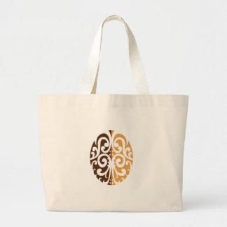 Coffee Bean with Maori Motif Large Tote Bag