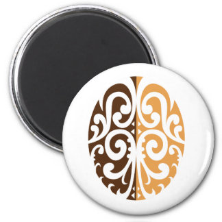 Coffee Bean with Maori Motif Magnet