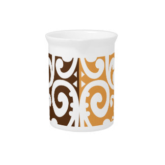 Coffee Bean with Maori Motif Pitcher