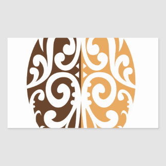 Coffee Bean with Maori Motif Sticker