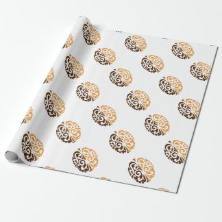 Coffee Bean with Maori Motif Wrapping Paper