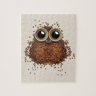 Coffee beans and Coffee Cups Owl Puzzle