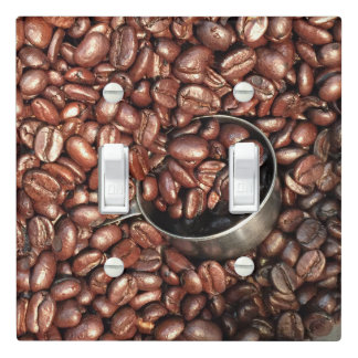 Coffee Beans and Scoop Photograph Light Switch Cover