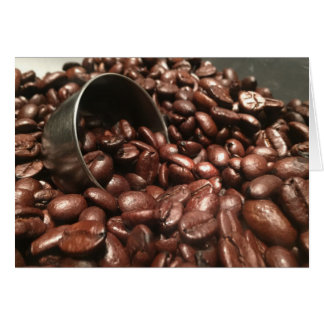 Coffee Beans and Silver Scoop Photograph Card