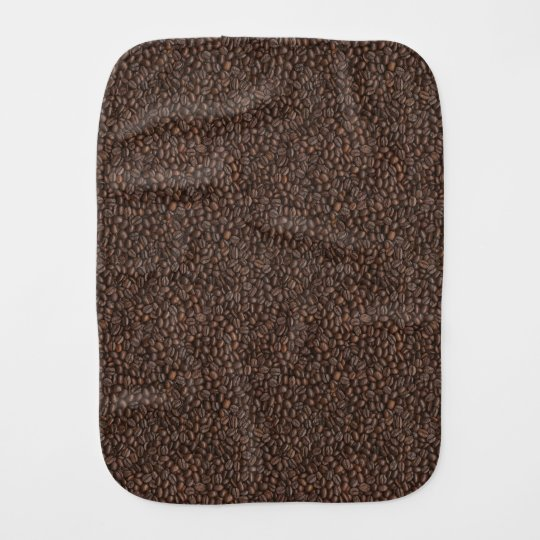 Coffee Beans Burp Cloth