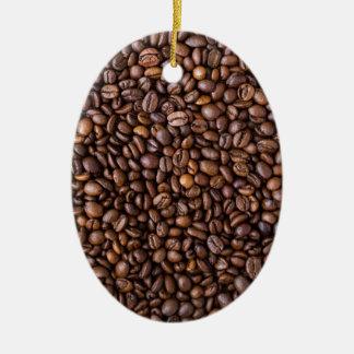Coffee Beans! Ceramic Ornament