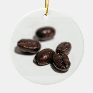 Coffee Beans Ceramic Ornament