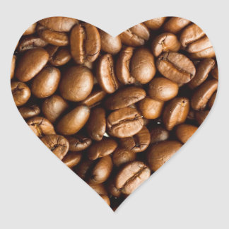 Coffee Beans Customisable Name Heart Sticker