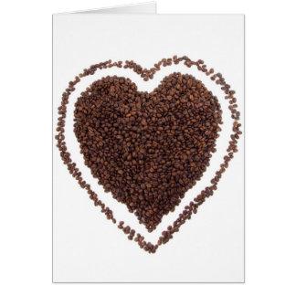 Coffee beans heart card