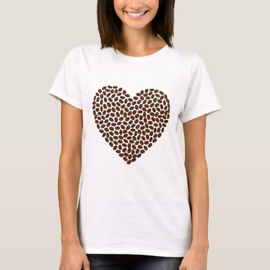 Coffee Beans Heart T-Shirt