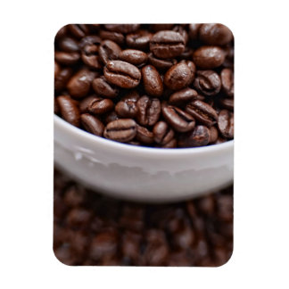 Coffee Beans in a White Cup Magnet