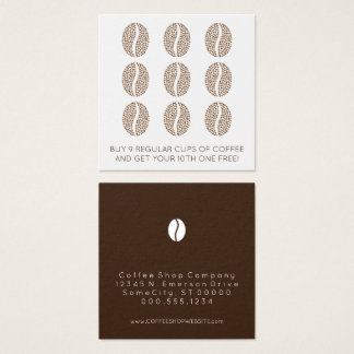 coffee beans loyalty square business card