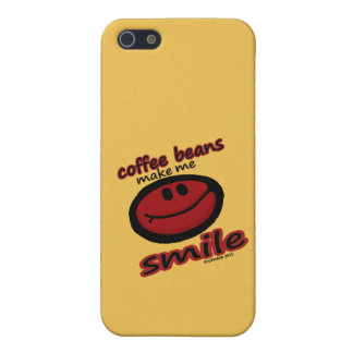 coffee beans make me smile iPhone 5 covers