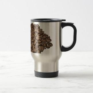 Coffee beans melts transparent travel mug