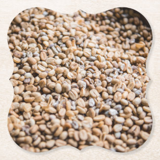 Coffee beans paper coaster