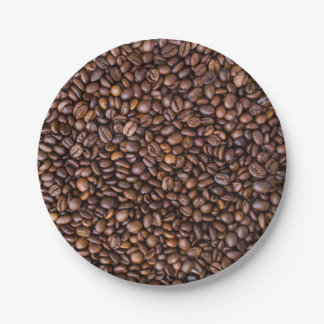 Coffee beans! paper plate