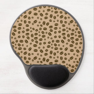 Coffee beans pattern gel mouse pad