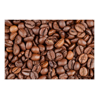 Coffee beans poster