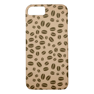 Coffee beans seamless pattern iPhone 7 case