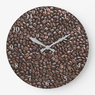 Coffee Beans Small Numbers Large Clock