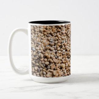 Coffee beans Two-Tone coffee mug