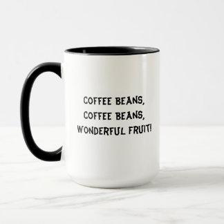 Coffee beans wonderful fruit mug