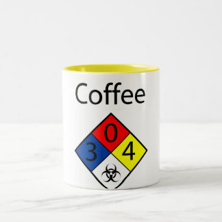 Coffee Biohazard MSDS Two-Tone Coffee Mug