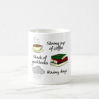Coffee, Books & Rain Coffee Mug