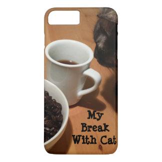 Coffee Break (cat) iPhone/iPad Case by RoseWrites