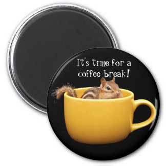 Coffee Break Chipmunk Magnet