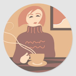 Coffee Break Classic Round Sticker