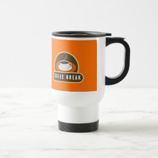 Coffee Break Cup of Coffee Orange Travel Mugs