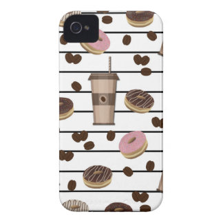 Coffee break pattern Case-Mate iPhone 4 cases