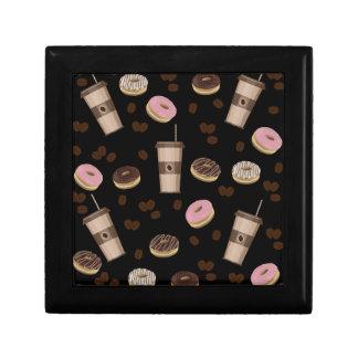 Coffee break pattern gift box