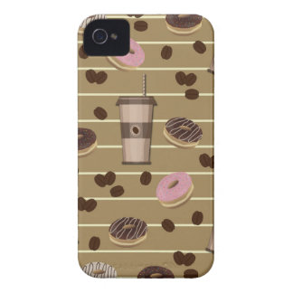 Coffee break pattern iPhone 4 Case-Mate cases