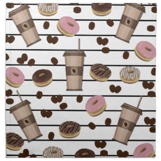 Coffee break pattern napkin