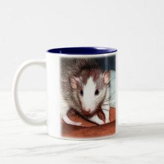 Coffee Break Ratties 02 Two-Tone Coffee Mug
