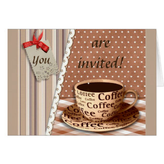 COFFEE BREAK, VINTAGE BREAK TIME COFFEE CUP CARD