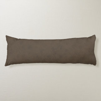 Coffee Brown Color Velvet Leather Look Body Pillow